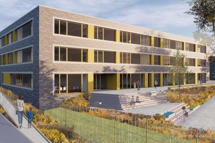 So soll die künftige Grundschule am südlichen Sonnenberg einmal aussehen.