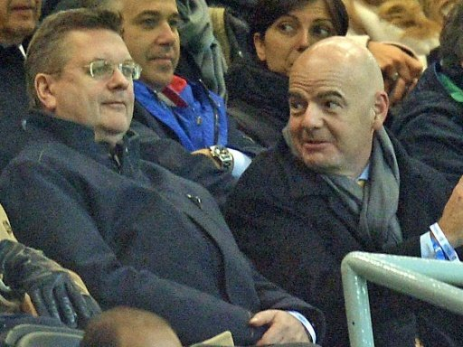 Reinhard Grindel und FIFA-Boss Gianni Infantino