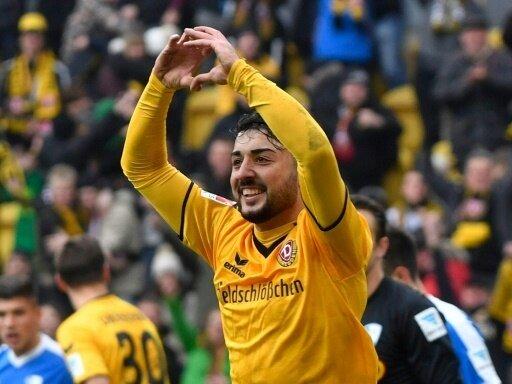 Aias Aosman erzielt die Führung für Dresden