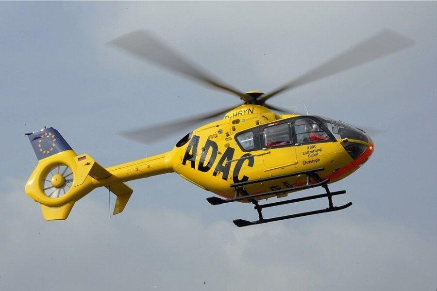 Unfall mit drei Schwerverletzten bei Marienberg