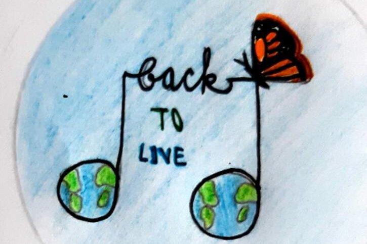 """Das siegreiche Logo """"Back to Live""""."""