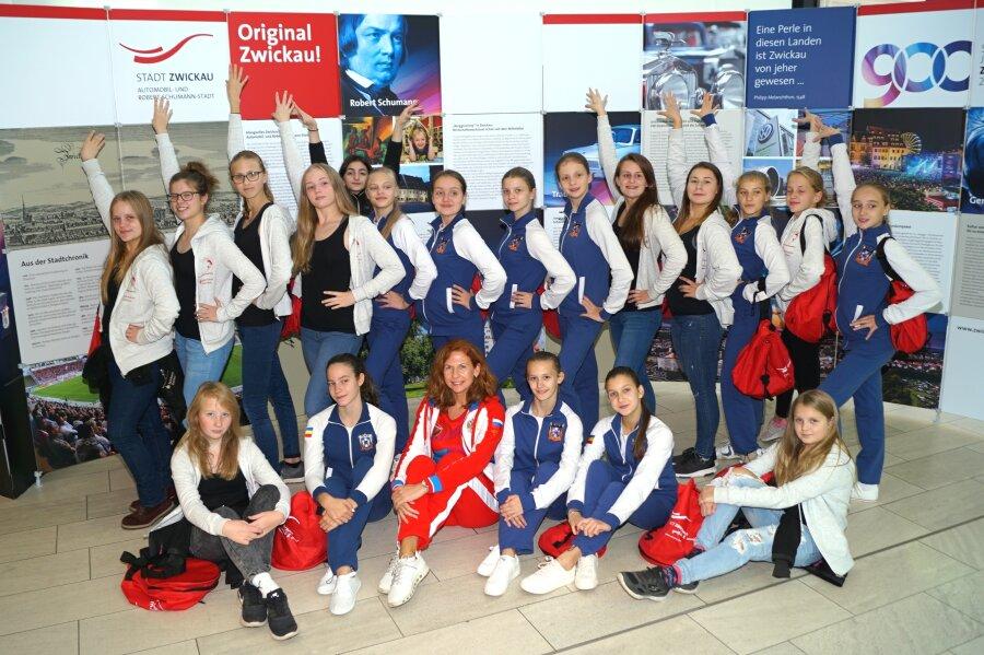 Empfang für russische Synchronschwimmerinnen