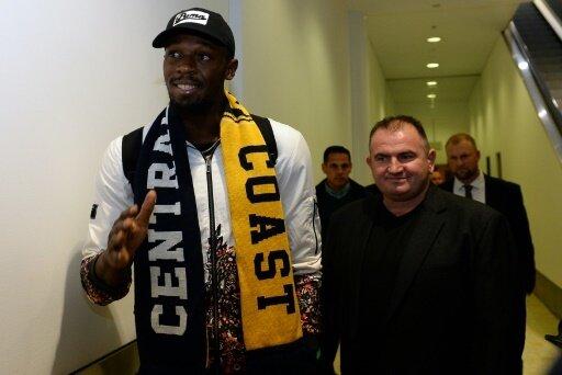 Für Babbel eine PR-Aktion: Bolt als Fußballer