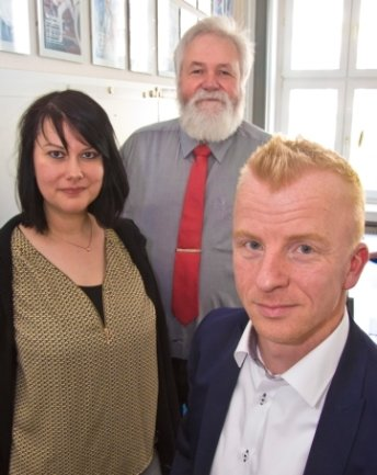Gefragte Psychotherapeuten: Sandra Kuhle aus Chemnitz; Frank Massow aus Chemnitz und Sven Quilitzsch aus Zwickau (v.l.).