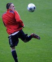 Beim Trainingsauftakt dabei: Franck Ribery