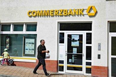 Die Commerzbank schließt die Filiale an der Leipziger Straße in Werdau.