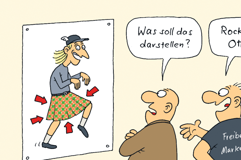 Otto Normalmittelsachse in Feierlaune