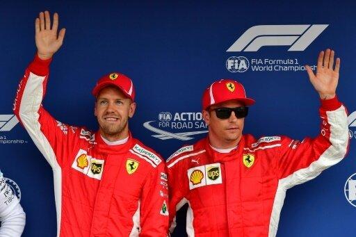 Teamkollegen: Sebastian Vettel (l.) und Kimi Raikkönen