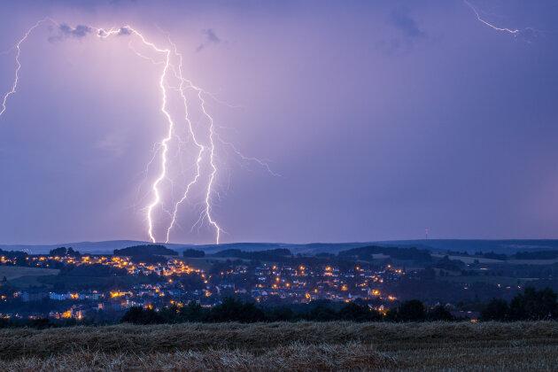 Jeder elfte Blitz 2017 traf Sachsen