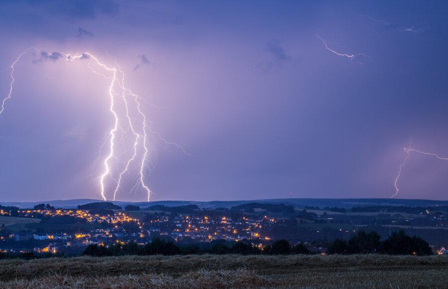 Warnung vor Gewittern in Teilen von Sachsen