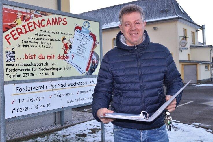 Gunter Pech, der Geschäftsführer des Fördervereins für NachwuchssportFlöha, schaut trotz aller Corona-Probleme optimistisch in das neue Jahr.