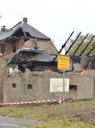 Der ehemalige Gasthof am Ortsausgang Mittelsaida ist teilweise abgebrannt.