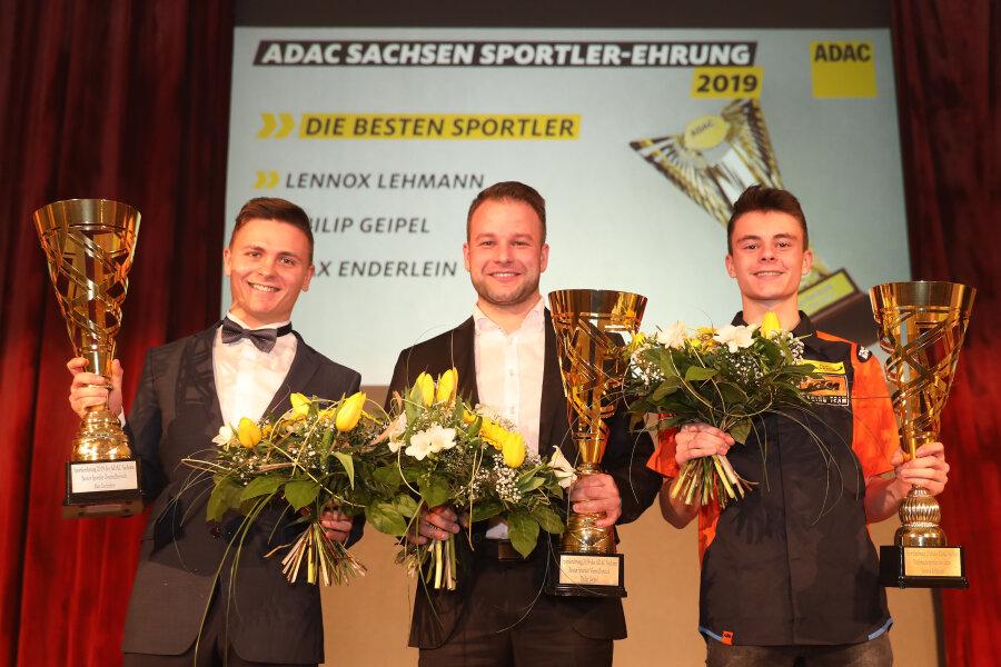Die besten Sportler 2019: Max Enderlein, Philip Geipel und Lennox Lehmann (v.l.).