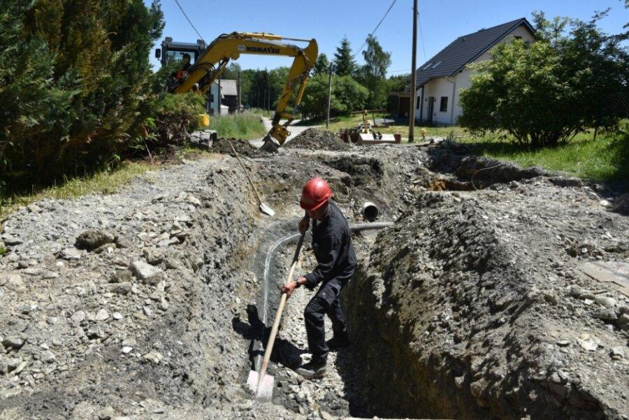 Seit Mitte April wird am zweiten Abschnitt der Landwüster Straße gebaut.