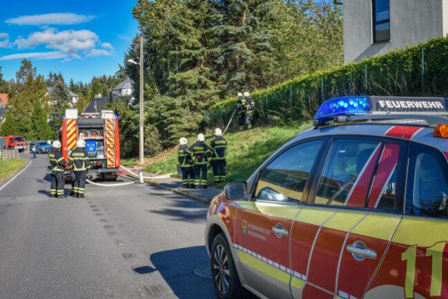 30 Kameraden der Feuerwehren aus Neukirchen, Adorf und Lugau waren im Einsatz.