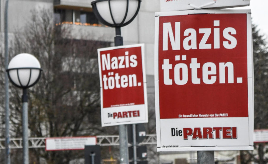 """Provokante Wahlplakate: Gericht erlaubt """"Nazis töten"""""""