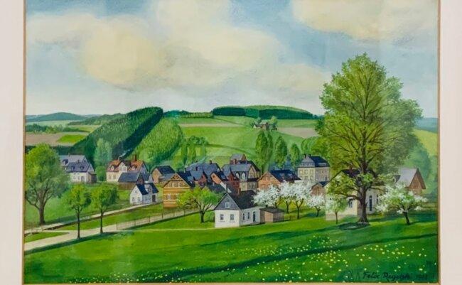 1946 strandete ein junger Mann aus Schlesien für kurze Zeit in Oberlauterbach und hinterließ seiner Hauswirtin dieses Bild. Wohin Felix Regetzki danach weiterzog, weiß Peter Fischer nicht mehr. Der Falkensteiner war damals zwölf Jahre alt und der Sohn im Haus.