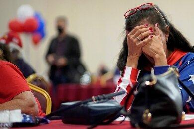 Enttäuschung unter Trump-Anhängern in Kalifornien: Dort konnte Joe Biden mehr als 65 Prozent der Stimmen gewinnen.