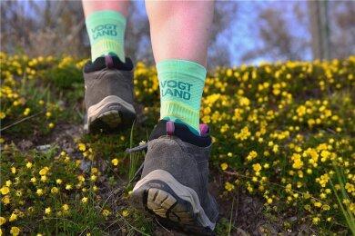 Der Tourismusverband hat sich auf die Socken gemacht und weitere solcher Socken geordert.