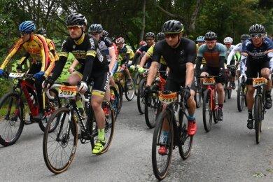 280 Pedalritter erreichten über die 50-Kilometer-Distanz der Radfahrer beim Drei-Talsperren-Marathon das Ziel.