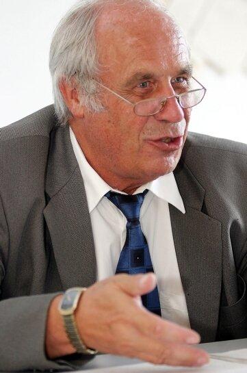 Hans Leineweber, der Leiter der Arge Zwickauer Land.