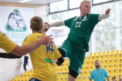 Nicht zu halten: Sven Hesse markierte gegen den HV Oederan zehn Tore für die HSG III und hat insgesamt schon 31-mal getroffen.