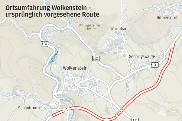 Ortsumgehung: Freistaat rückt von geplantem Trassenverlauf ab