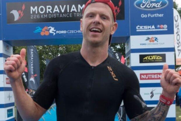 Man sieht Andreas Maul die Strapazen im Ziel des Moraviaman 2018 in Tschechien kaum an. Der Zwickauer hat unter anderem auch in Mexiko, Australien und auf Lanzarote schon Ironman-Wettbewerbe absolviert.
