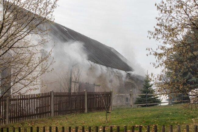 Am Sonntagnachmittag ist ein Feuer in einer Scheune in Conradsdorf ausgebrochen.