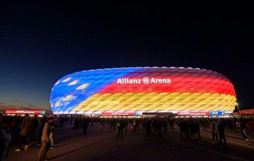 Die Allianz Arena warb farbenfroh für die EM 2024