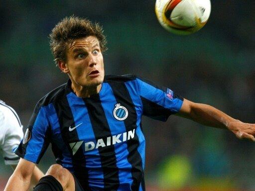 Jelle Vossen mit dem Siegtreffer für den FC Brügge