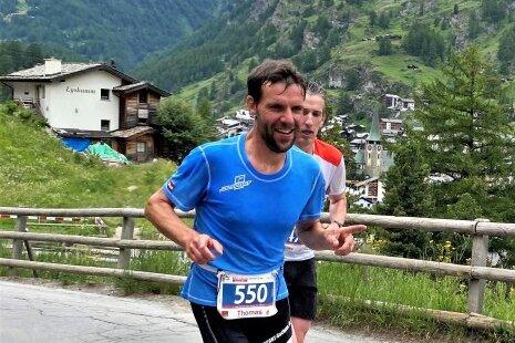 Beim Marathon in der Schweiz geht es praktisch nur bergauf.