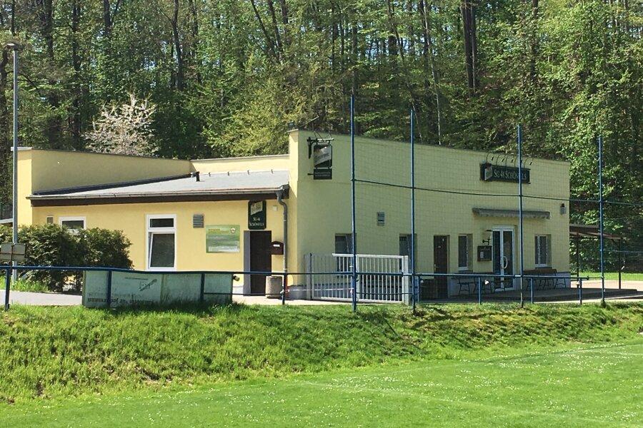 Das Sportlerheim der SG 48 Schönfels.