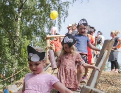 """Die Flöhaer Kindertagesstätte """"Spielhaus Groß und Klein"""" ist in den vergangenen Jahren für insgesamt rund 750.000 Euro umgestaltet worden."""