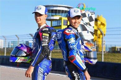 Jason Dupasquier und Ryusei Yamanaka (von links) stehen beide vor ihrem zweiten WM-Jahr.