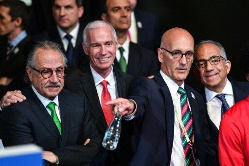Serrano (l), Reed (m) und Cordeiro vertraten ihre Länder
