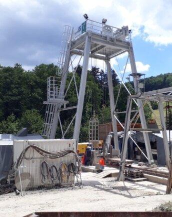 Die Übertage-Anlagen des von SME im Luchsbachtal angelegten Erkundungsschachts sind inzwischen zum großen Teil zurückgebaut.