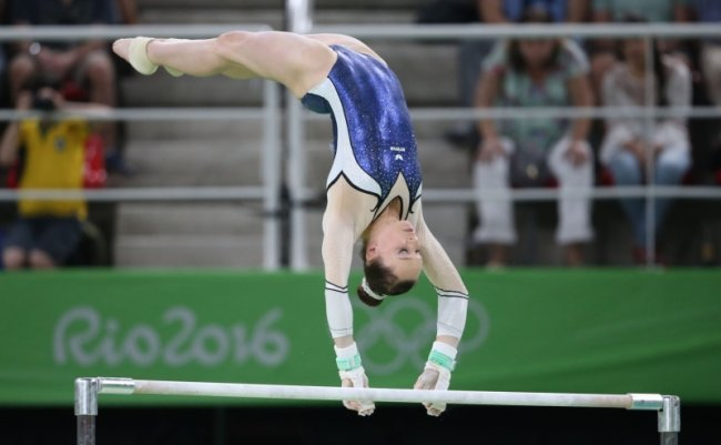Sophie Scheder turnte am Stufenbarren elegant und technisch anspruchsvoll zu Bronze.