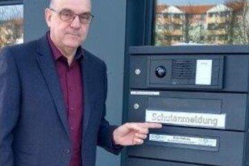 Jens Gernegroß, Leiter der Ohain-Oberschule, verweist auf die postalische Anmeldung für künftige Fünftklässler.
