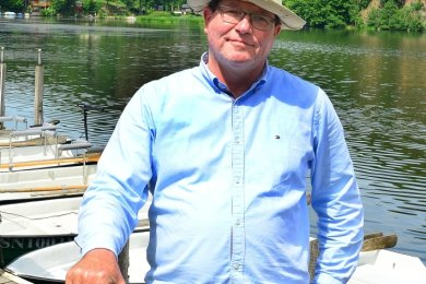 Peter Groß freut sich über die Öffnung des Bootsverleihs an der Talsperre.