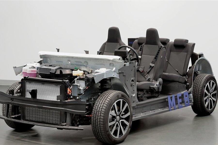 So sieht das Chassis der neuen elektrischen ID-Familie von Volkswagen aus.