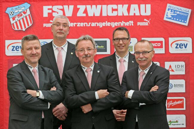 Der aktuelle Aufsichtsrat, gewählt 2016 ( v. l.): Ingo Kursawe (Vorsitzender), Toralf Thümmler, Jürgen Naumann, Kai Günther, Uwe Findeiß