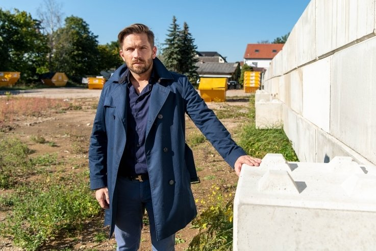 Björn Morschett will auf seinem Wechselburger Betriebsgelände einen Wertstoffhof bauen.