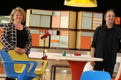 Thomas Heinicke und Frau Sibylle wollen ihre Ausstellung nächstes Jahr in Zwickau zeigen.