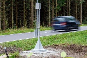 Die neue Straßenwetterstation in Geyer.Foto: Ronny Küttner