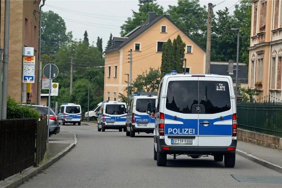 Am 7. Juni war die Polizei mit einem Großaufgebot in Bräunsdorf.