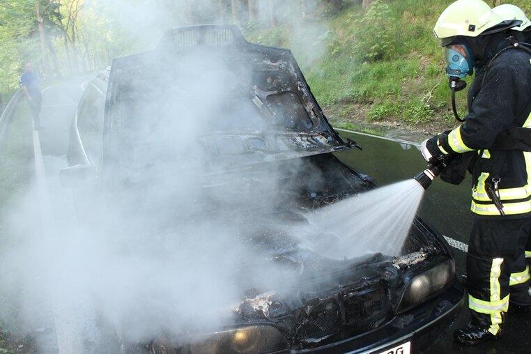 BMW ausgebrannt