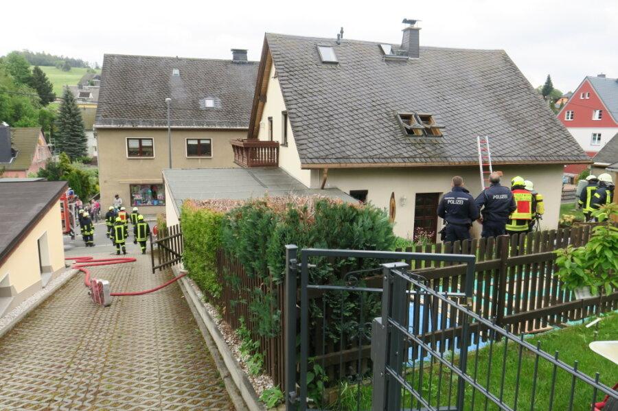 Nachbar verhindert schlimmeren Brand in Zschorlau