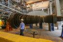 """Die """"Innereien"""" einer Turbine zur Stromerzeugung im Chemnitzer Heizkraftwerk."""