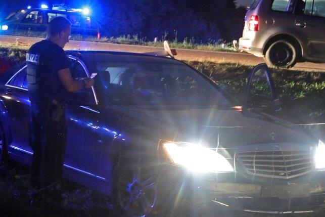 Autodieb verunfallt auf A 4 bei Meerane - Festnahme